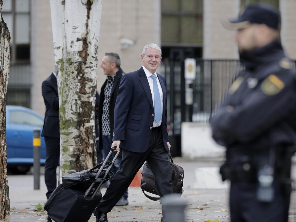 Pablo Crespo a su llegada al juzgado.