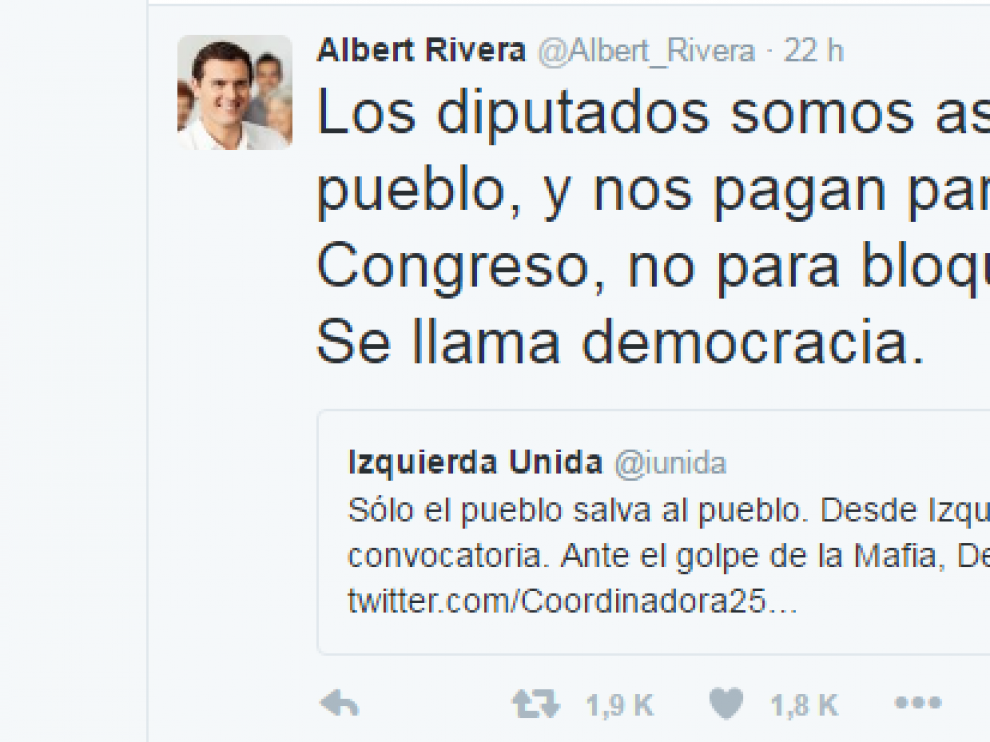 Albert Rivera en Twitter