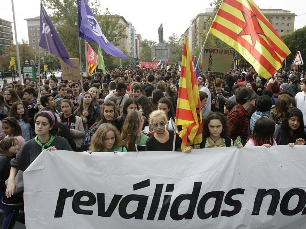 Manifestación en Zaragoza este miércoles.