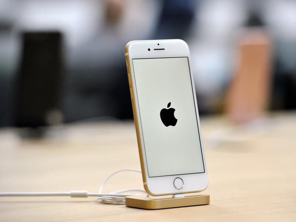 Uno de los teléfonos de Apple.