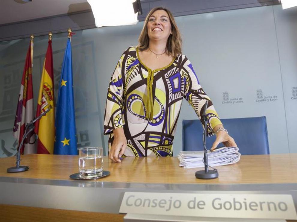 La consejera de Agricultura y Ganadería y portavoz de la Junta de Castilla y León, Milagros Marcos.