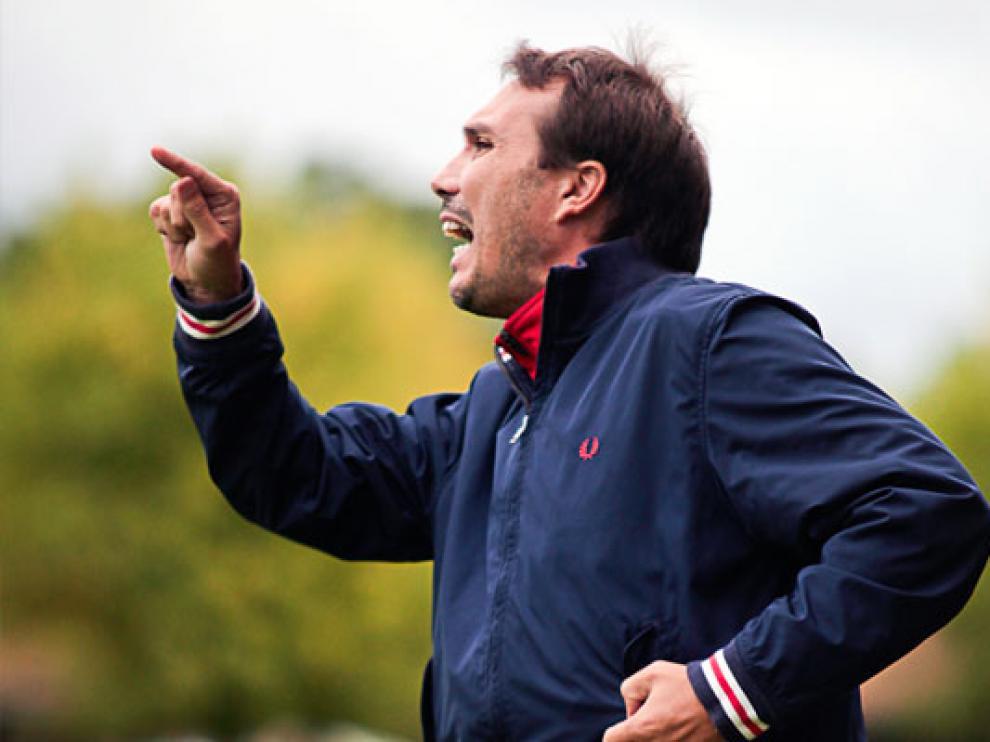Rodri, durante su etapa como entrenador del Olot