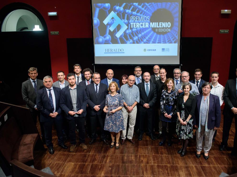 La entrega de Premios Tercer Milenio se realizó en el aula magna del Paraninfo.