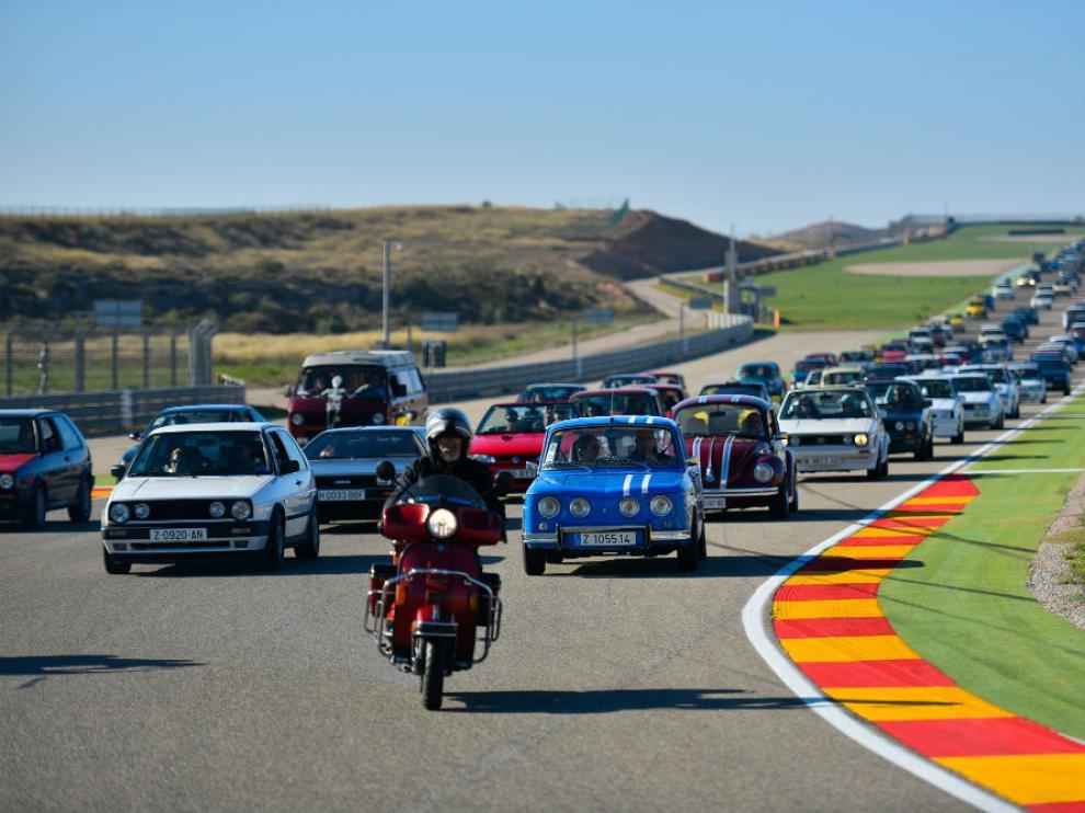 La pista de Motorland durante una prueba.