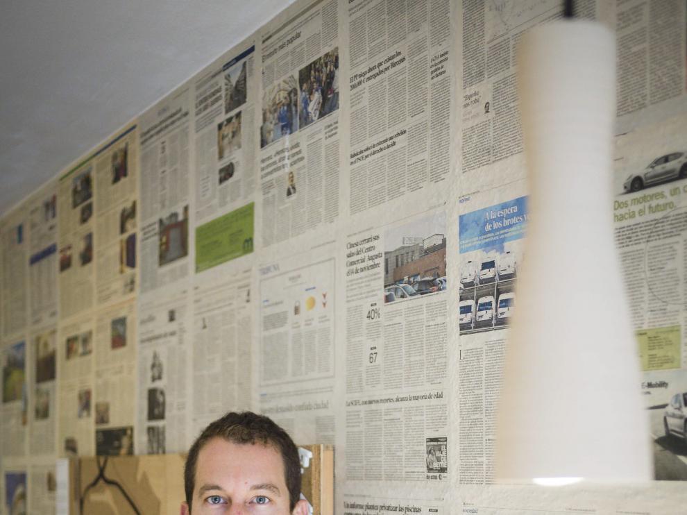 Juan Carlos Salas, en su estudio de arquitectura.