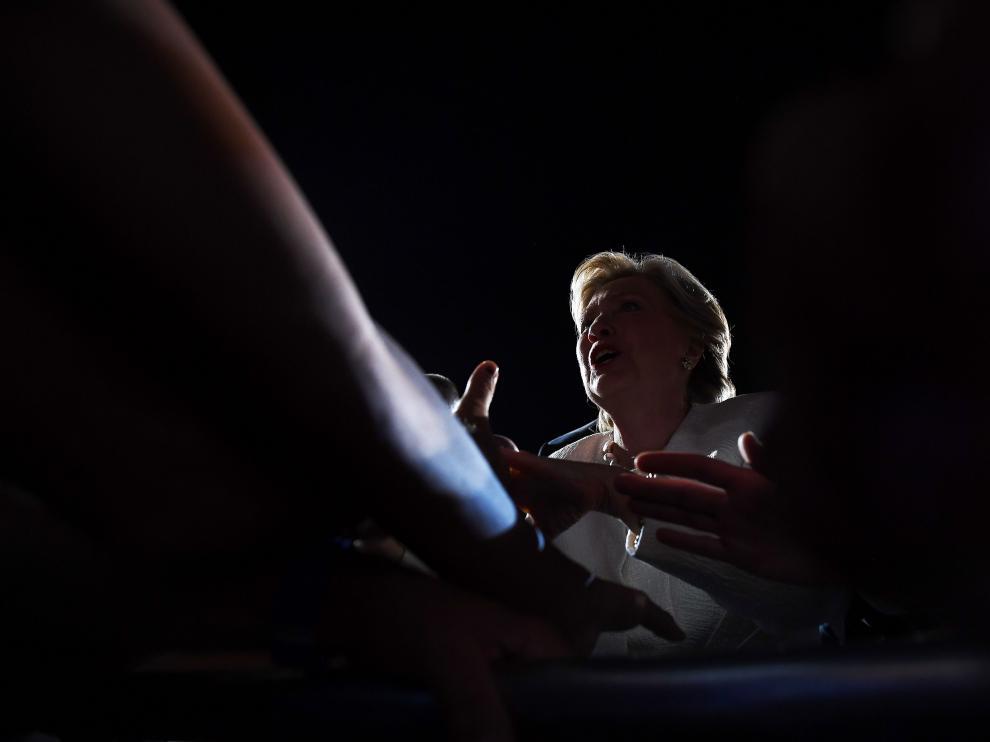 Hillary Clinton, en un acto de campaña