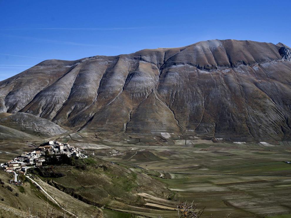 La zona de Castelluccio fue la más afectada.
