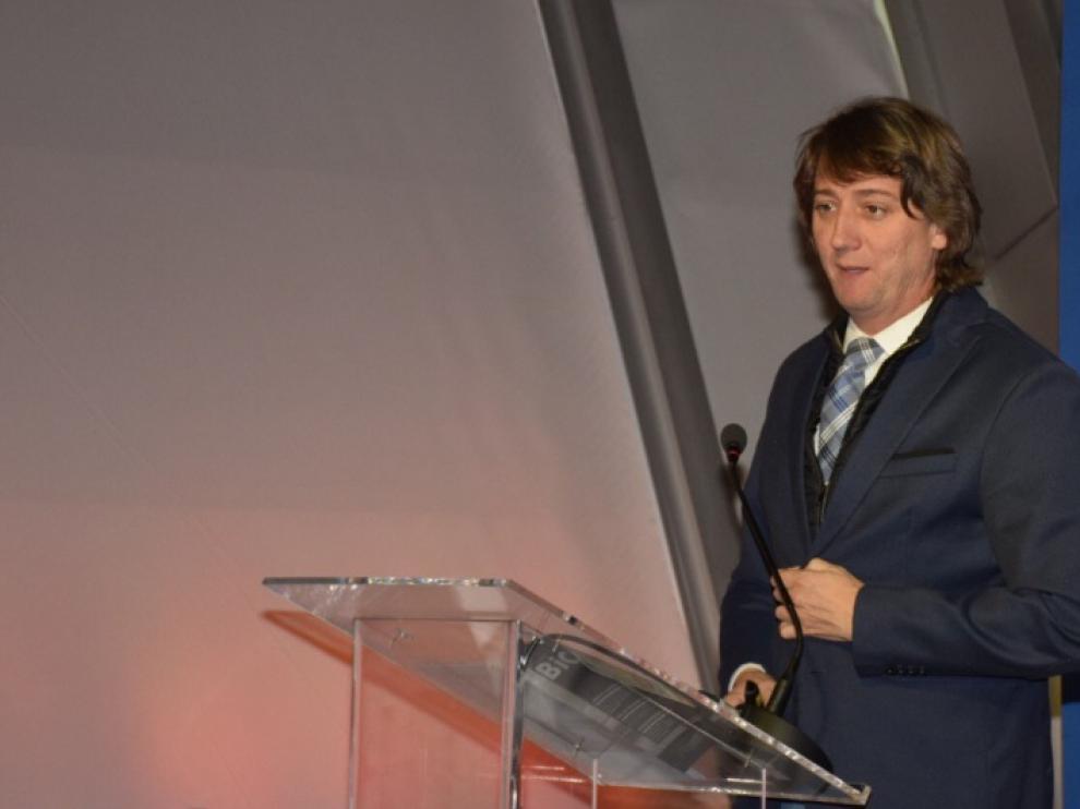 El alcalde de Soria, Carlos Martínez, en Madrid, en la jornada 'Conecta Municipios: Redes de calor con biomasa'.