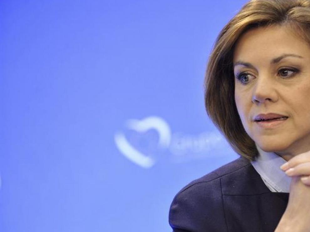 María Dolores de Cospedal, segunda ministra de Defensa de la democracia.