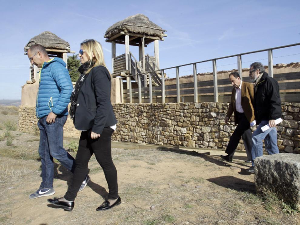 El delegado territorial, Manuel López, ha inspeccionado este jueves las reparaciones realizadas en Numancia.