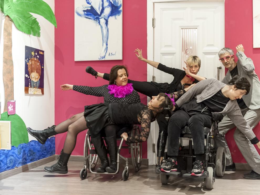 Escena de los 'laboratorios' de danza inclusiva que se vuelven a poner en marcha.