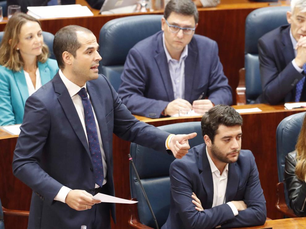 Ignacio Aguado en el Pleno de la Asamblea de Madrid