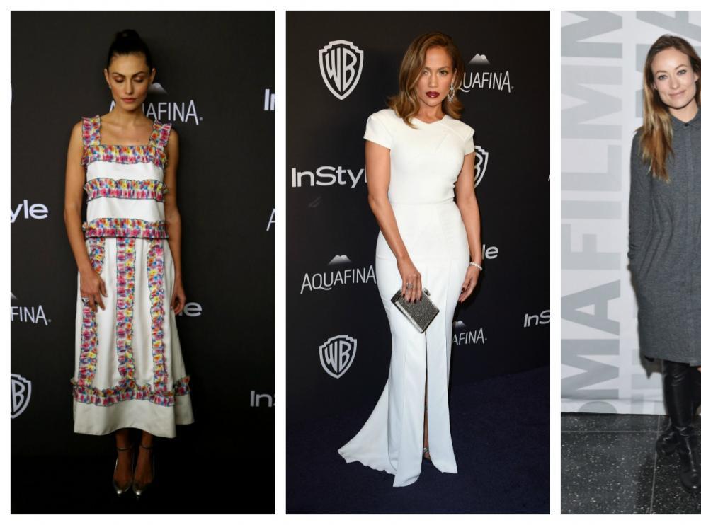 Las actrices Phoebe Tonkin, Jennifer Lopez y Olivia Wilde, nada escotadas en tres recientes alfombras rojas.