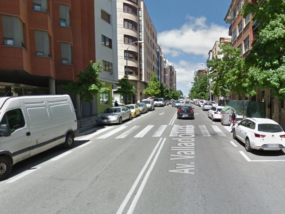 Paso de peatones a la altura de la avenida Valladolid número 15