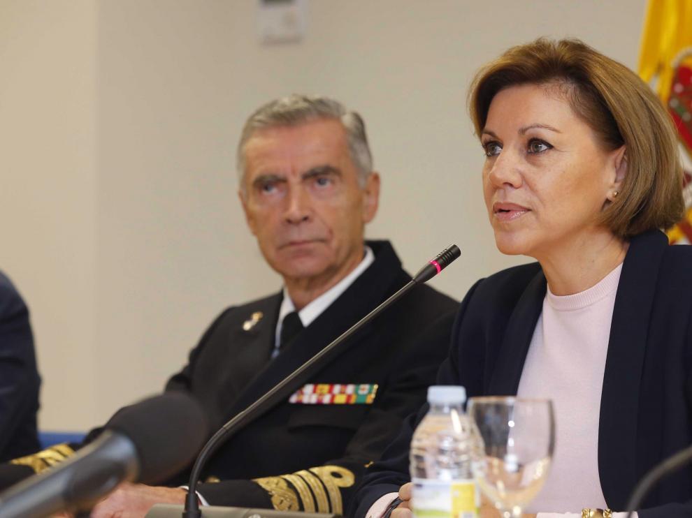 Cospedal traslada por videoconferencia su reconocimiento a las tropas españolas en el exterior.