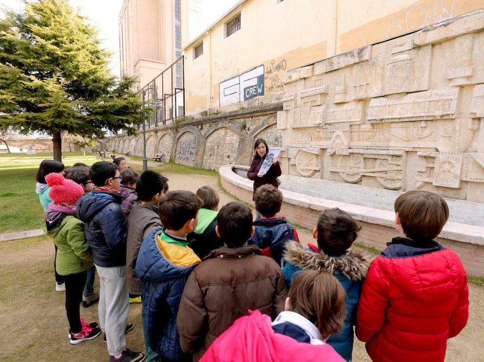 Escolares de Tarazona conocen el patrimonio local desde pequeños.