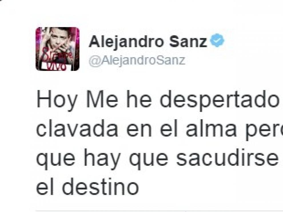 Reacción de Alejandro Sanz tras conocerse que Trump es el presidente de Estados Unidos.