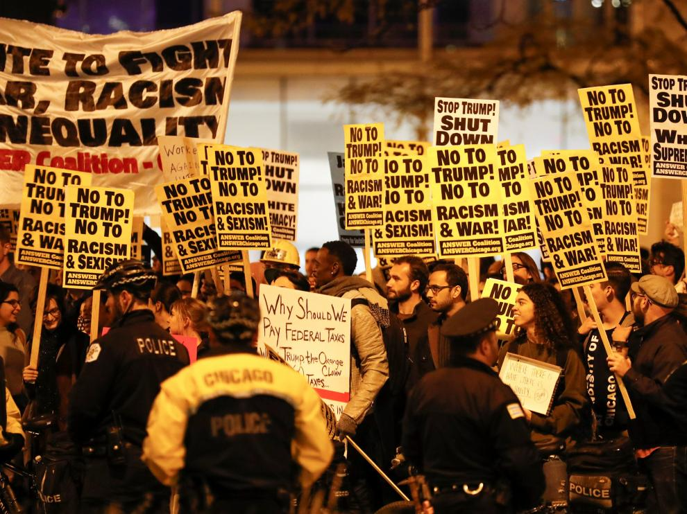 Estallan protestas anti-Trump en las principales ciudades estadounidenses