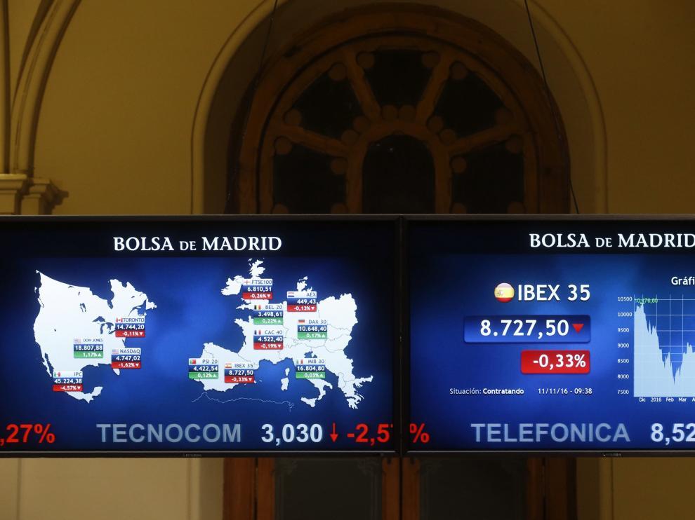 La Bolsa de Madrid, este viernes.