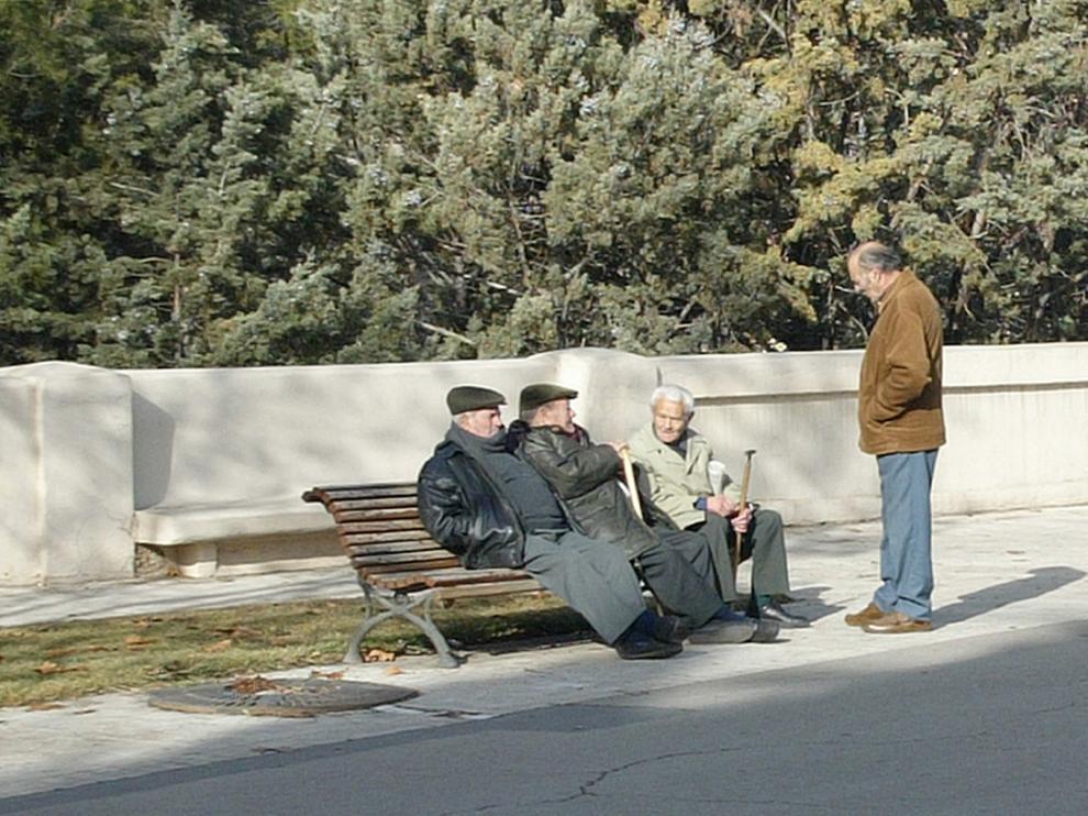Un grupo de jubilados aragoneses.