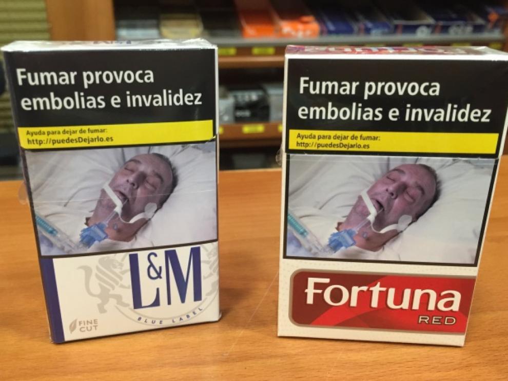 Imagen de los empaquetados de los cigarrillos.