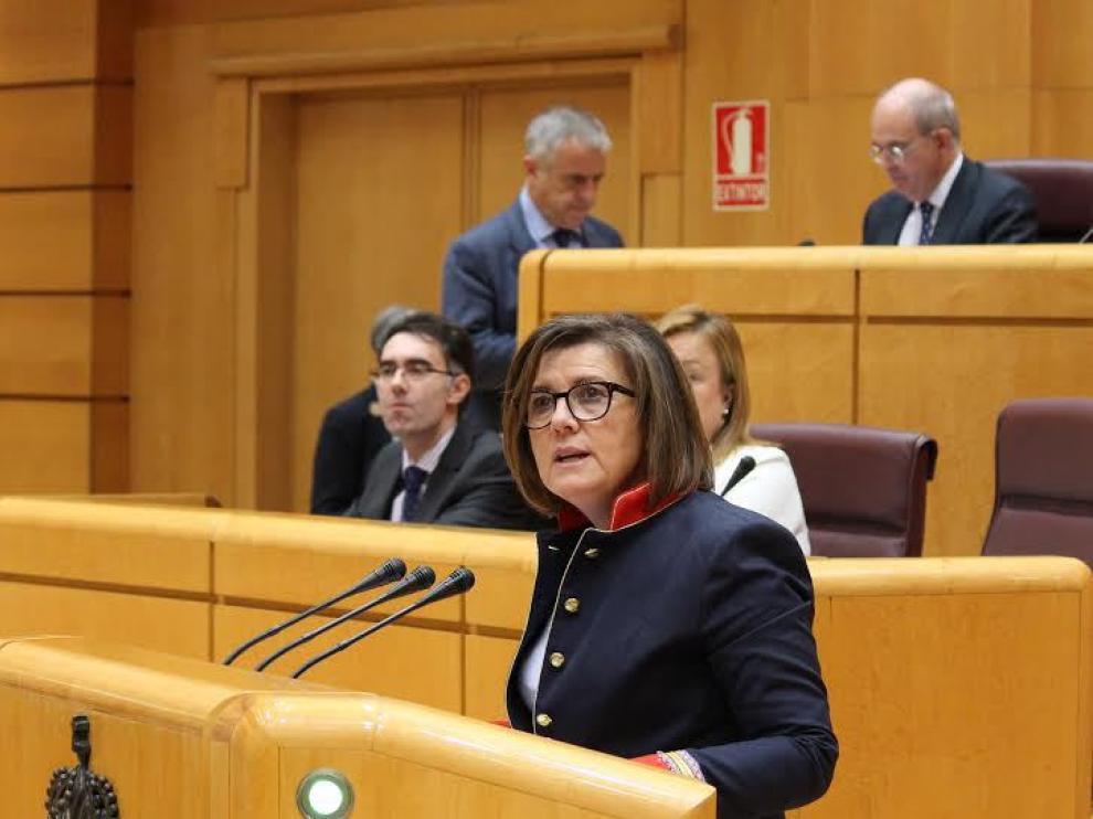La presidenta del PP de Soria y Senadora por la provincia de Soria, Mar Angulo.