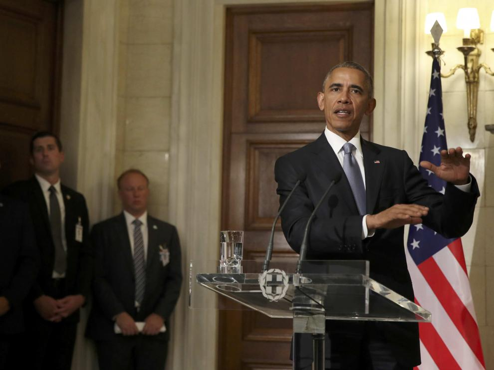 Obama, este martes en Atenas.