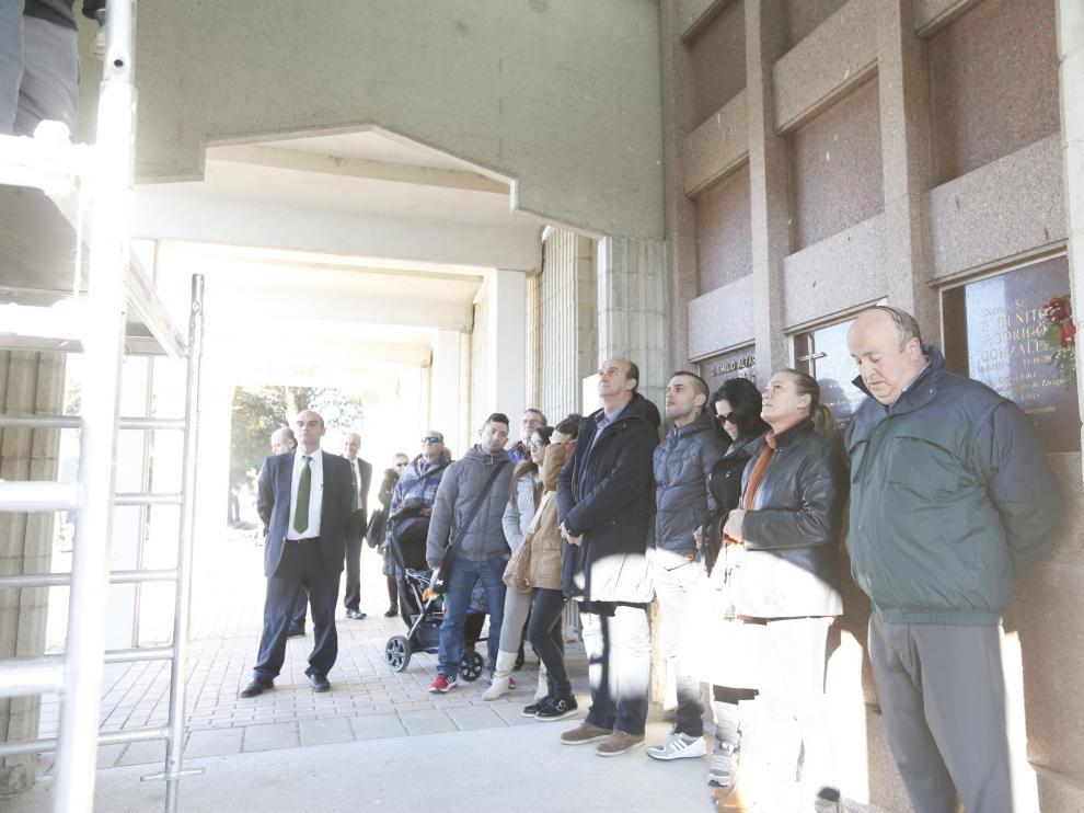 Perico Fernández ya descansa en el pabellón de personas ilustres del cementerio de Torrero.