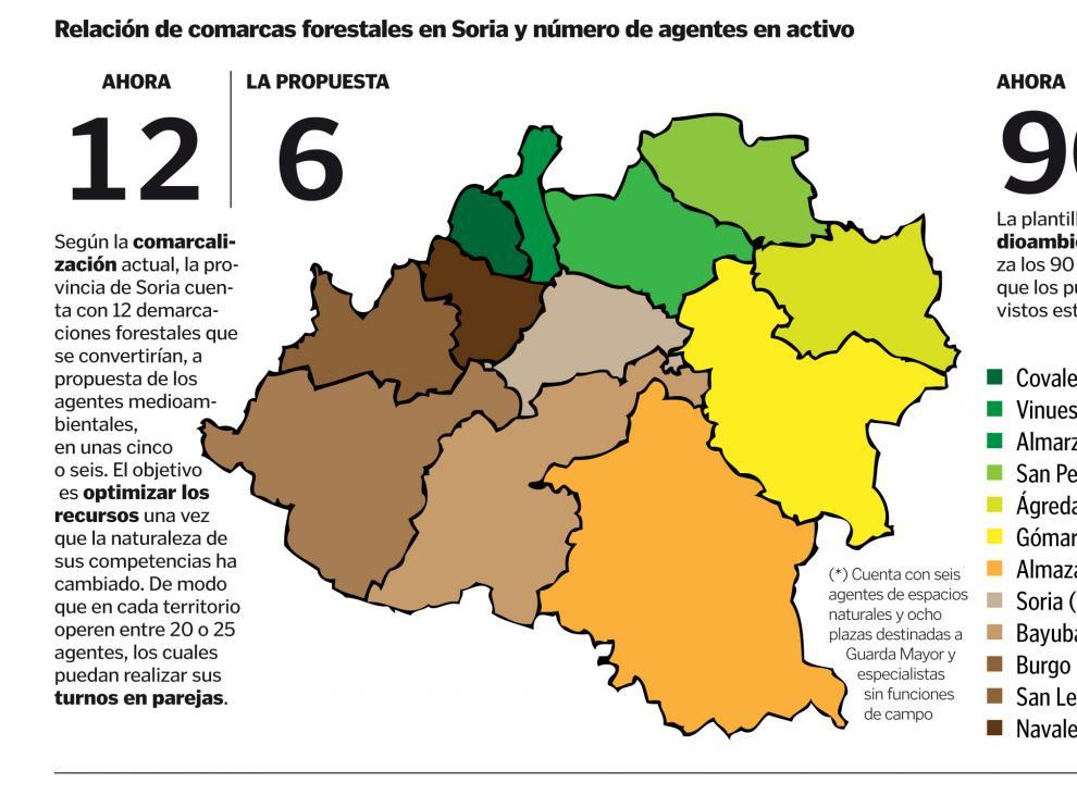"""En Soria, las 12 comarcas forestales actuales pasarían a ser """"cinco o seis"""""""