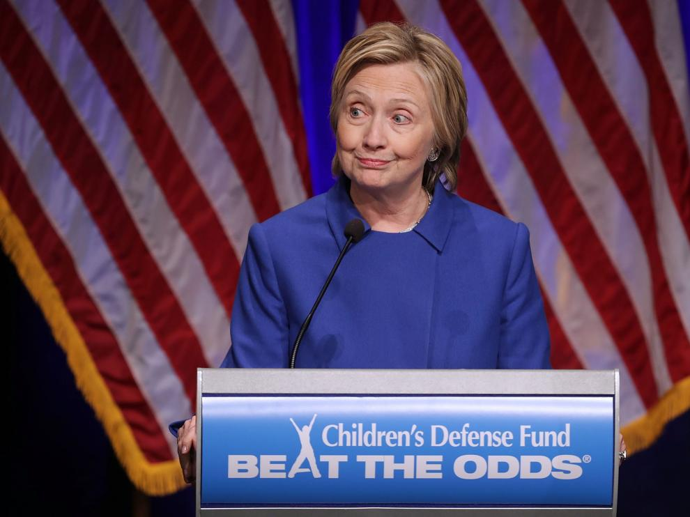 Clinton durante la cena de la organización en defensa de la infancia estadounidense Children's Defense Fund.