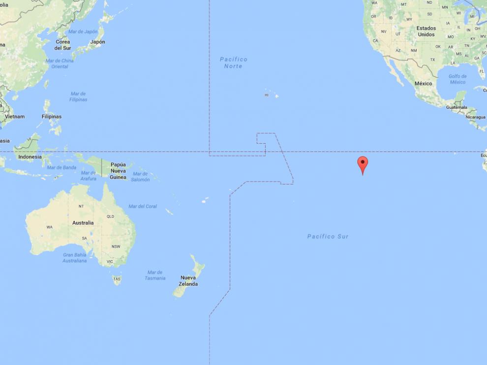 Mapa del Océano Pacífico