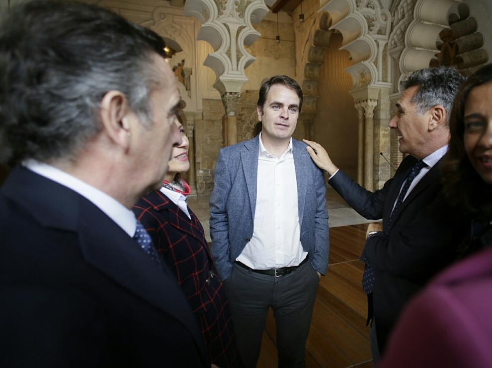 Roberto Bermúdez de Castro ha dado una rueda de prensa para explicar su renuncia al acta de diputado y su marcha a Madrid