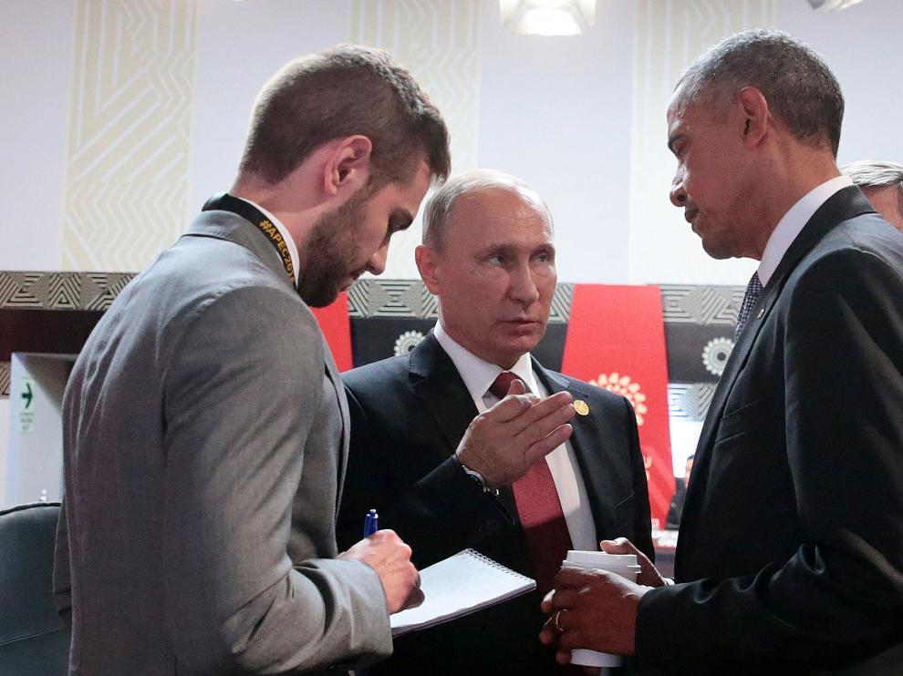 El presidente estadounidense y su homólogo ruso, Vladimir Putin, en una foto de archivo.