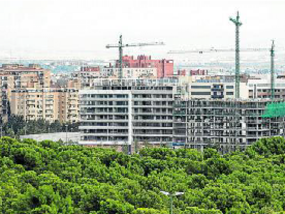Vista de Parque Venecia cuando el barrio comenzó a construirse.