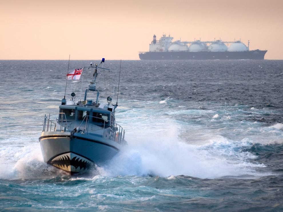 Un barco británico similar al que se enfrentó al buque español en Gibraltar
