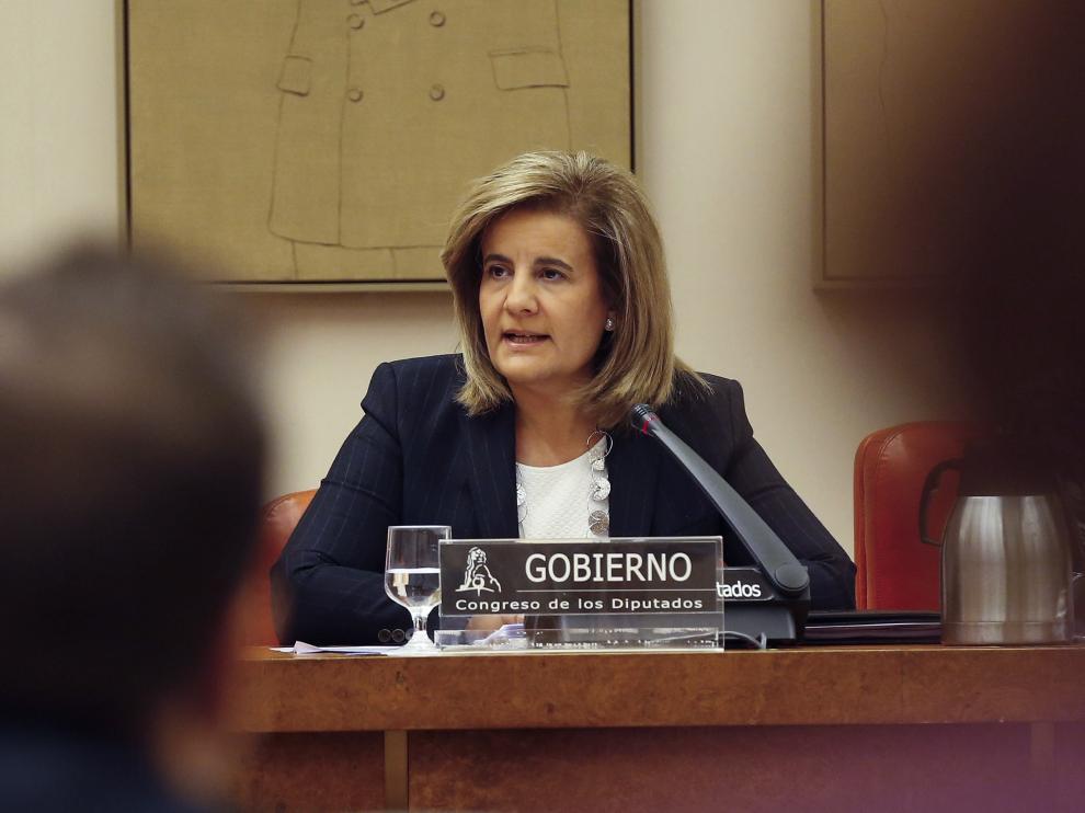 Fátima Báñez, en la Comisión del Pacto de Toledo