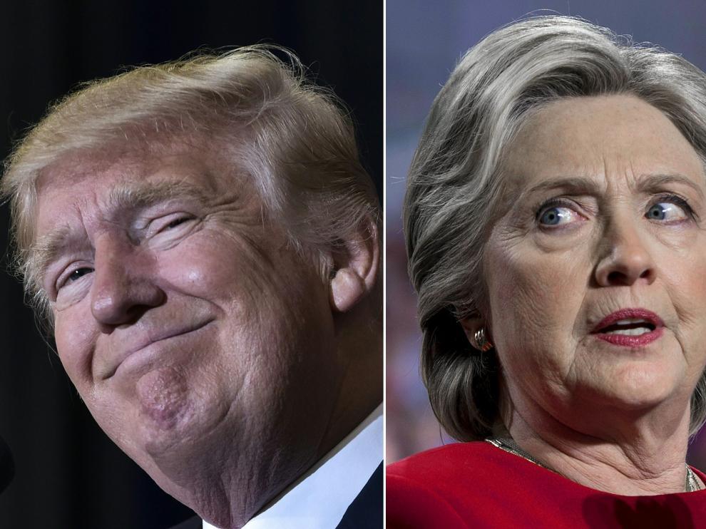 Trump y Hillary Clinton durante la campaña electoral de EE. UU:
