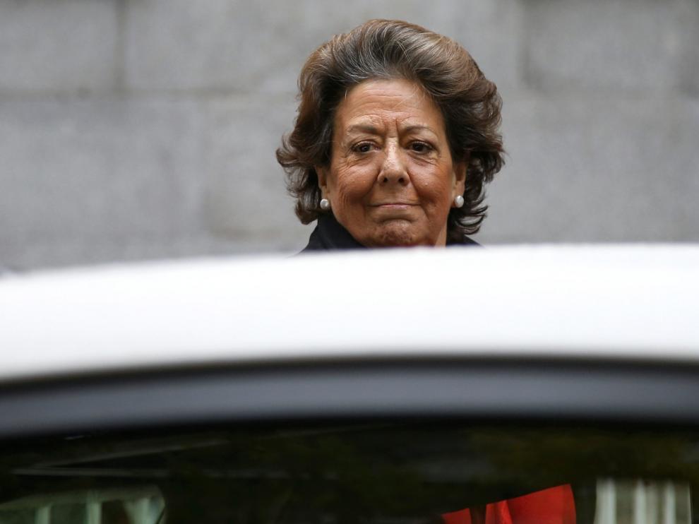 Rita Barberá, el pasado lunes, cuando acudió a declarar al juzgado