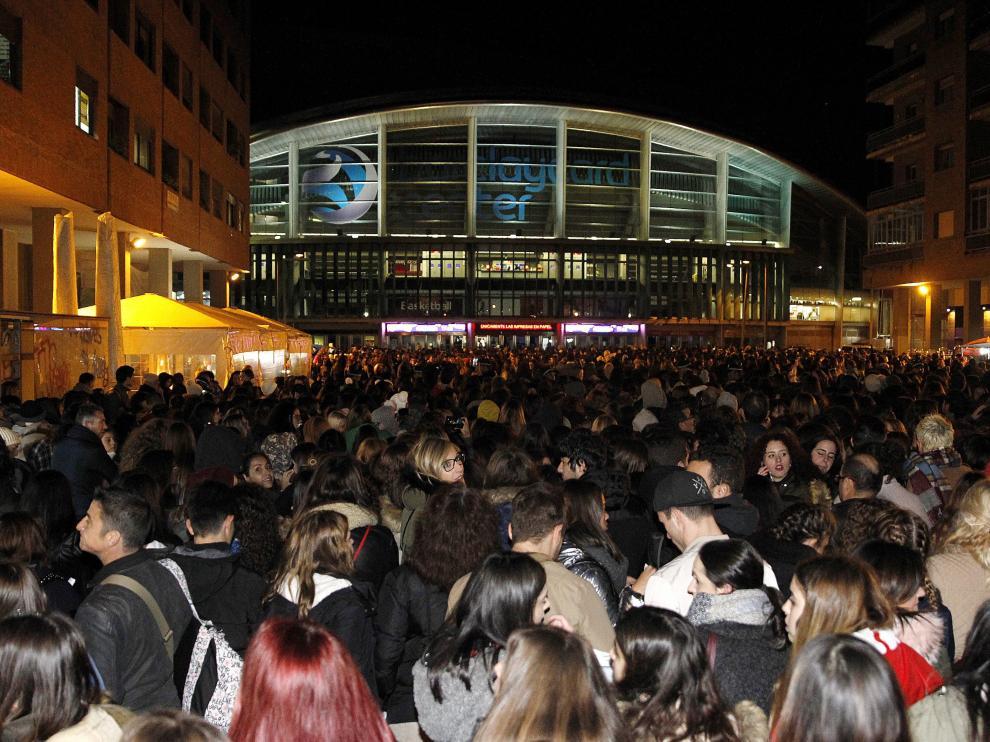 Filas interminables para el concierto de Justin Bieber en Madrid