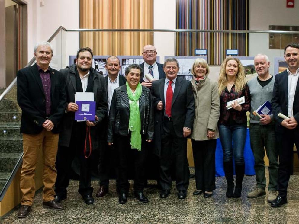 El premio internacional Pentafinium Jacobeo se entregó en cuatro categorías y los premiados ayer en Zaragoza son de toda España.