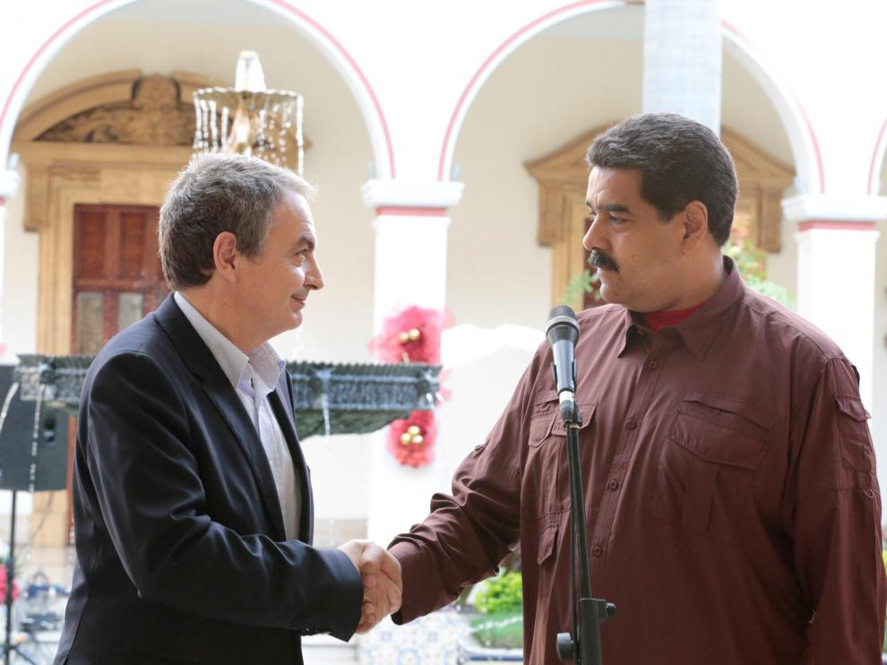 José Luis Rodríguez Zapatero junto a Nicolás Maduro.