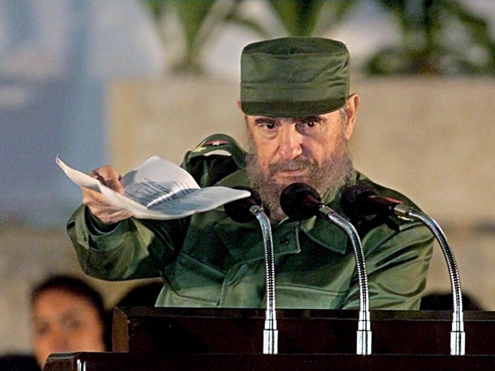 Fidel Castro era capaz de dar discursos de cinco horas y más, y siempre de pie
