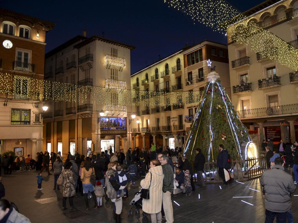 Imagen de archivo de la decoración de Navidad en Teruel.