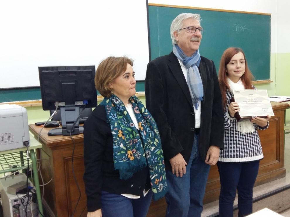 Violeta Soler, ganadora de la fase autonómica del Concurso Hispanoamericano de Ortografía.
