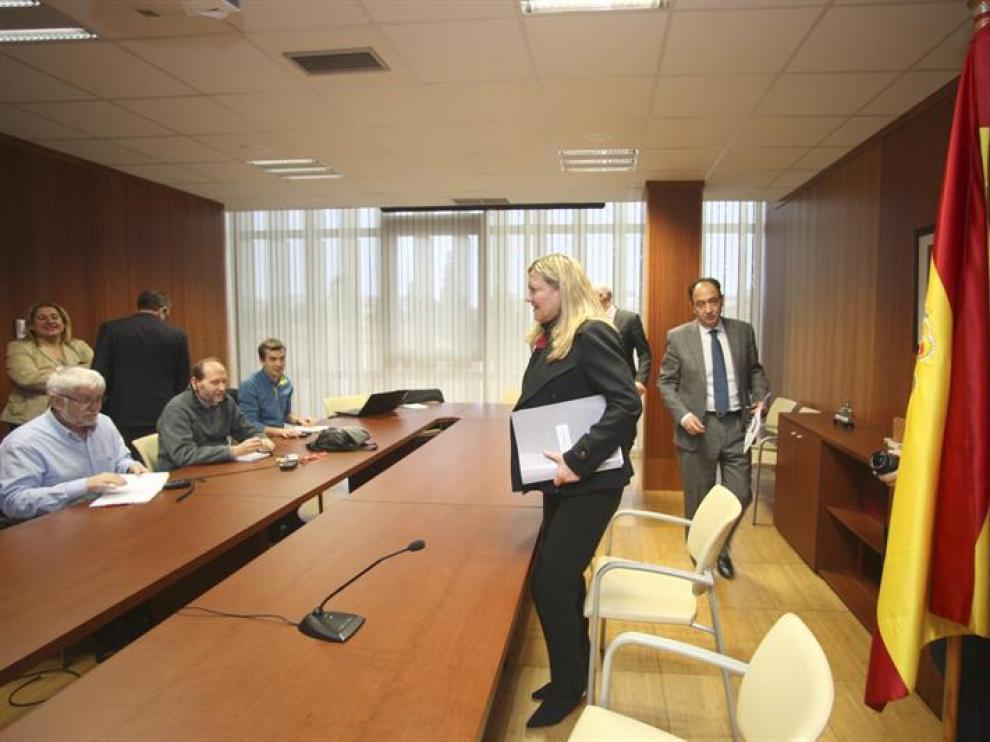 La consejera de Economía y Hacienda de la Junta de Castilla y León, Pilar del Olmo, en la delegación de la Junta en Soria.