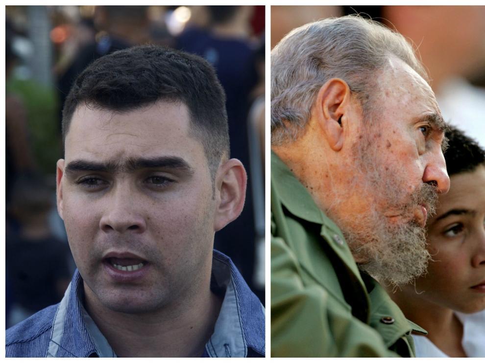 Izquierda, Elián González durante los actos en homenaje a Fidel Castro, y derecha, junto al líder cubano en 2005.