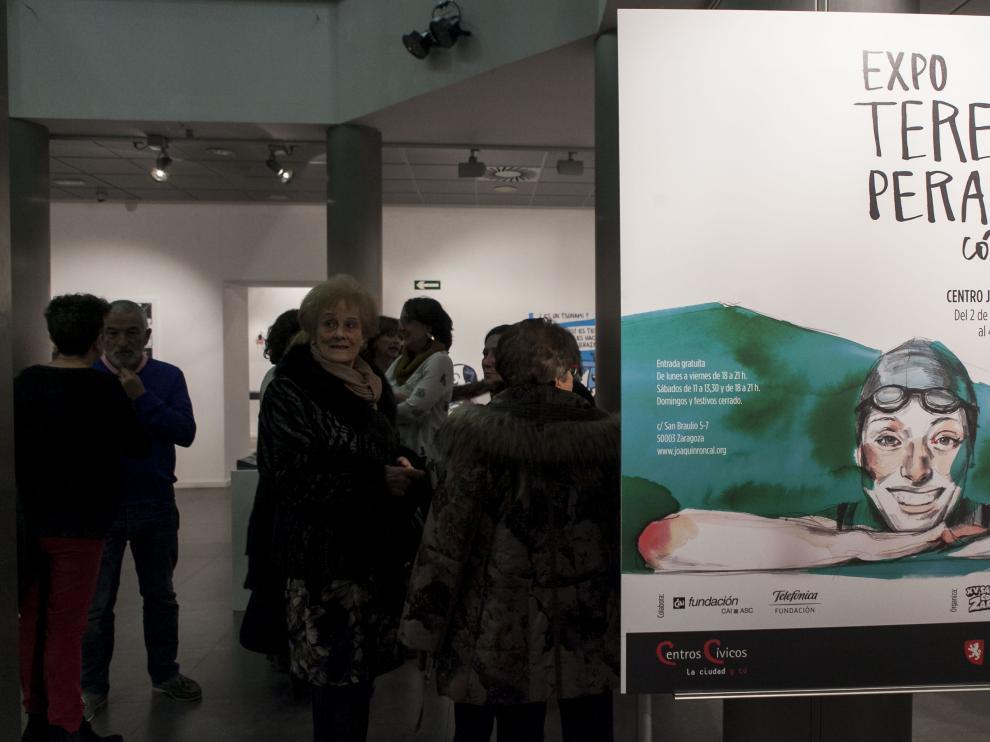 La exposición se puede ver en el Centro Joaquín Roncal hasta el 4 de enero.