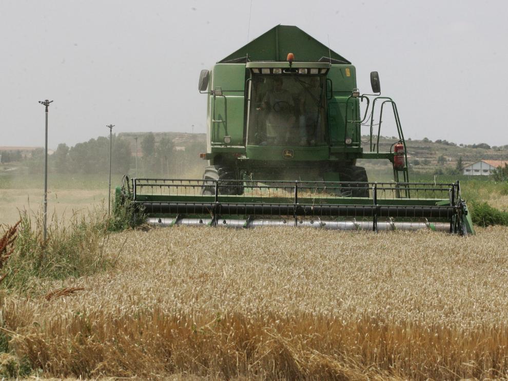 Imagen de una cosechadora.
