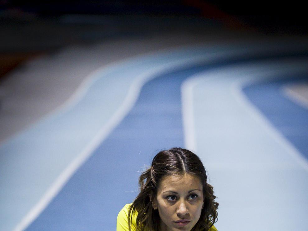Isabel Macías en el Palacio Municipal de Deportes.