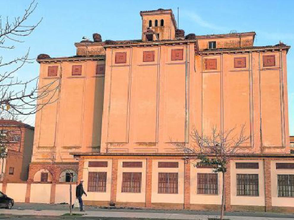 Imagen actual del silo de Ejea de los Caballeros, ubicado en la calle de Joaquín Costa.